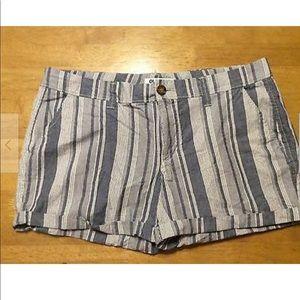 OLD NAVY Americana Stripe Cuffed Cotton SHORTS 8